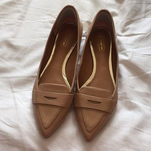 Coach Patent Leather Tan Flats